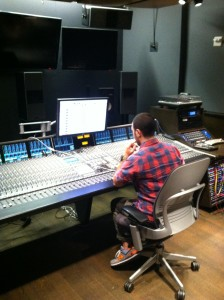 Producer David Steinberg working at a great SSL Board!